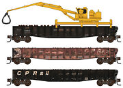 Micro-trains Mtl N-scale Canadian Pacific/cp Rail Weathered Tie Loader 3-pack
