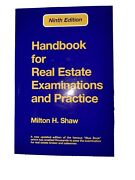 Shawand039s Handbook For Real Estate Examinations And Practice 9th Edition...