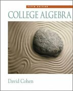 College Algebra By David Cohen And Jennifer Huber - Hardcover Excellent Condition