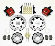 Wilwood Combination Parking Brake Rear Kit 12.19in Drilled Red 2006-up Civic / C