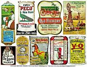 Farm And Country Signs 2 Sticker Sheets Grain Feed Windmill Wagon Milk Signs