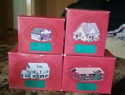Lot Of 4 The Sarah Plain And Tall Holiday Christmas Village Houses 1994