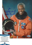 Nasa Astronaut Guion Bluford Signed 8x10 Photo 4 Space Sts-8 Beckett Bas Coa