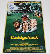 Bill Murray And Chevy Chase Signed 'caddyshack' 12x18 Movie Poster Photo W/coa
