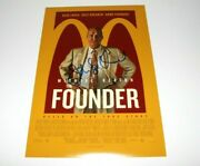 Director John Lee Hancock Signed 'the Founder' 12x18 Movie Poster W/coa Proof