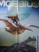 Vintage Hand Signed Jean Giraud Moebius Poster 22x34 With Coa