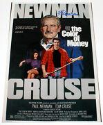 Robert Tanenbaum Poster Artist Signed And039the Color Of Moneyand039 12x18 Movie W/coa