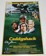 Bill Murray And Chevy Chase Signed And039caddyshackand039 12x18 Movie Poster Photo B W/coa