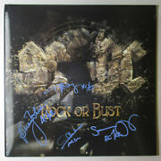 Angus Young Brian Johnson +2 Band Signed Ac/dc Rock Or Bust Vinyl Album Jsa Coa