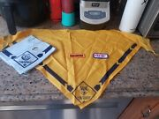 Lot Of Cub Scout Wolf Yellow And Blue Bear Scarf Bandana Bsa Badges Quality Unit