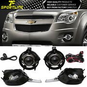 Fits 10-16 Chevy Equinox Front Projector Fog Light Lamp Lh Rh Pair H11 12v 55w
