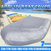 Waterproof Boat/dinghy Cover Uv Protection Anti Scratch Heavy Dust Dirt 13.7ft