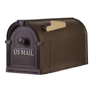 Postal Pro Plastic Large Mailbox Post Mount Outdoor Residential Mail Box Bronze