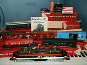 Vtg 1950and039s Gilbert American Flyer Train Set Lot W/boxes New Haven Engine Deluxe
