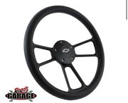 Black 67 To 94 Chevrolet Steering Wheel Complete W/ Button Adaptor And Horn Kit