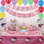Nelton Party Supplies For Hello Kitty Includes Cake Toppers Cupcake Toppers An