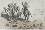 John Edward Borein American 1872 - 1945 Etching And Drypoint Sioux Chief