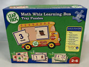 2006 Leap Frog Math Wiz Learning Bus Tray Puzzles