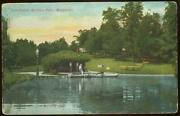 Mitchell Park Milwaukee Wisconsin Boat House Conservatory Lot Of Two Postcards