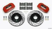 Wilwood 140-12996-dr Dpha Front Caliper And Rotor Kit Drill Red Honda / Acura W/ 2