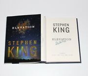 Stephen King Signed And039elevationand039 1st/1st Edition Printing Hardcover Book W/coa