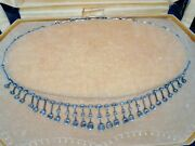 Antique Sterling Silver Diamond Necklace Natural Very Old Egyptian Jewelry 2 Ct