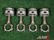 Toyota 3sgte Pistons And Connecting Rods = 1997-02 Caldina St215 13201-79415