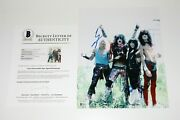 Motley Crue Band Signed Authentic 11x14 Photo Beckett Coa Mick Mars Vince Neil