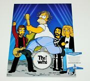 Pete Townshend The Who Signandeacute 11x14 Photo 4 Guitare Icon Beckett Coa The Simpsons