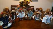 Lizzie High Wooden Dolls Lot Of 13 Dolls.comes With Signature Labels.