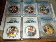 2014 Disney Mickey And Friends - Complete Set 6-pcgs First Str Ngc Pf70 First Rls