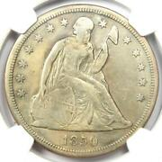 1850-o Seated Liberty Silver Dollar 1 - Ngc Vf Details - Rare Date Coin