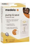 Medela Pump And Save Breastmilk Bags 20 Count W/2 Adapters New/sealed Box