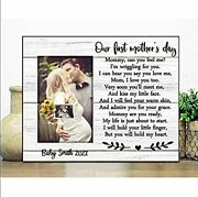 Personalized First Motherand039s Day Mommy And Baby Poster Gift For Mom Poster