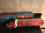 Coca- Cola Tin/plastic Jumbo Trailer Made In Japan- H-63