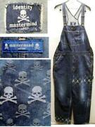 Mastermind Japan 12ss Identity Period Skull Overall Paint Processing Denim Pants