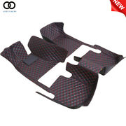 For Infiniti G37 200813 Waterproof Leather Car Floor Mats All Weather Black Red