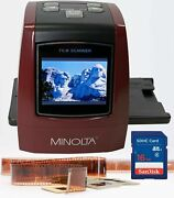 Minolta All-in-one 22mp Film And Slide To Digital Converter 2.4 Hi-res Lcd - Red