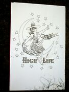 Nice Miller High Life Beer Lady On The Moon Glass Advertising Mirror