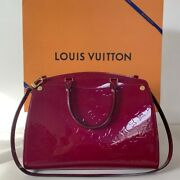 Auth Louis Vuitton Brea Mm Vernis - Magenta - In Outstanding Condition