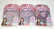 Lot Of 3 Blinger 75 Piece Each Adhesive Gems Girl Gift Sparkle Collection New