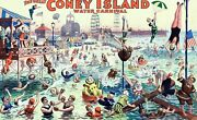 Wooden Jigsaw Puzzles For Adults The Great Coney Island Water Carnival 500 Piece