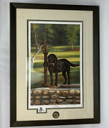 Ducks Unlimited Waiting By Maurade Baynton Limited Edition Signed 33 X 24