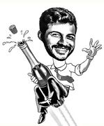 Caricature Cartoon From Your Photo Funny Best Friend Gift For Mens Personalized