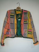 New Crystal Handwovens Jacket Top Vintage Beauty Small