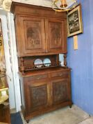 Antique Dutch Kitchen Cupboard Andndash Carved Doors Andndash Very Well Made