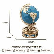 567pcs The Globe Earth Ocean Map Ball 3d Wooden Puzzle Toys Diy St002 Kits Gift