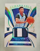 2019-20 Immaculate Remarkable Patch Jarrett Culver Rc 1/1 Sick Patch