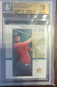 2001 Upper Deck Tiger Woods Sp Authentic Previews Rc 💎 Bgs 10 Pristine 💎📈💰