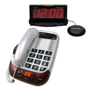 Clarity Alto Amplified Big Button Corded Phone + Wakeassure Loud Visual Ringer